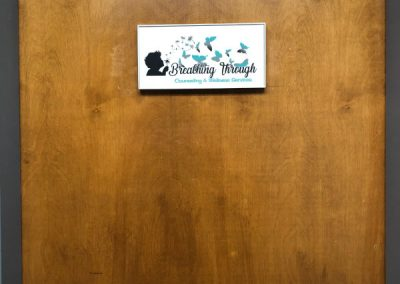 Breathing Through Counseling - Office Door