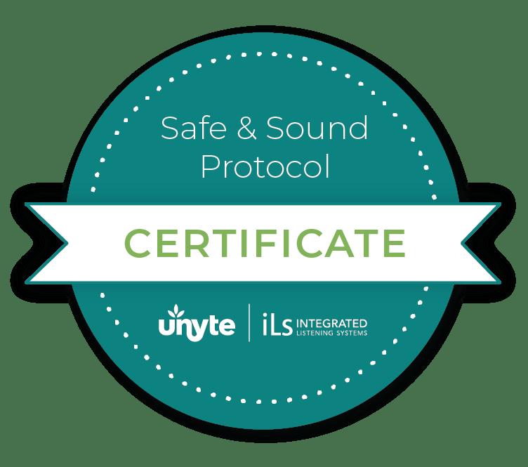 Certificate of Safe & Sound Protocol